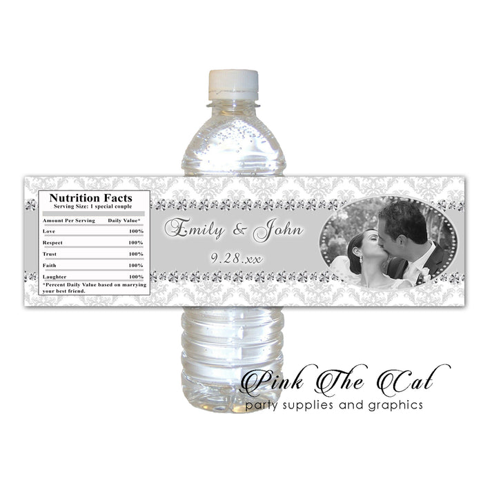 Diamond photo bottle label (set of 60)