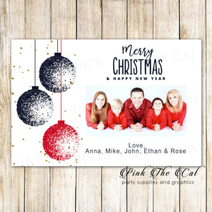 30 Holiday christmas greeting cards with photo ornaments