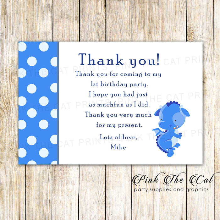 30 thank you cards dragon boy birthday baby shower
