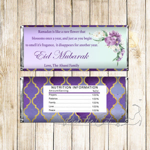 Eid mubarak candy bar floral poem