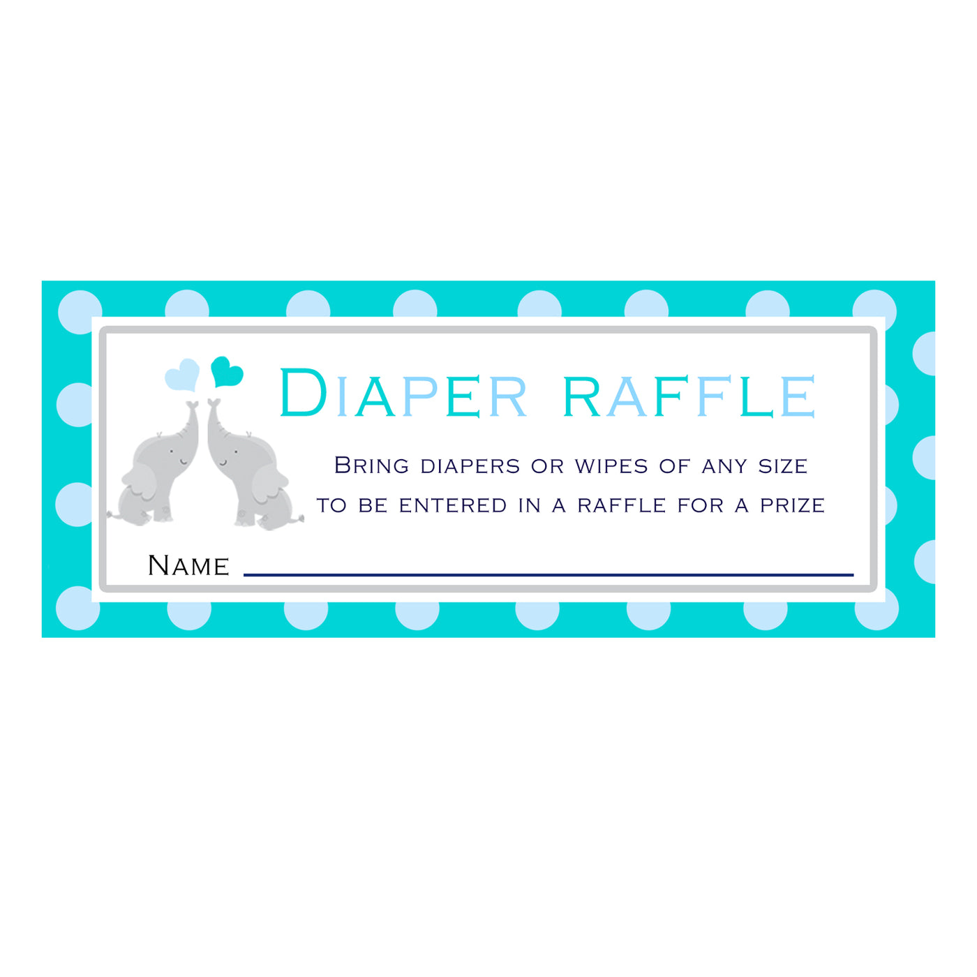 image relating to Printable Diaper called Diaper Raffle Playing cards Twins Elephant Child Shower Teal Printable