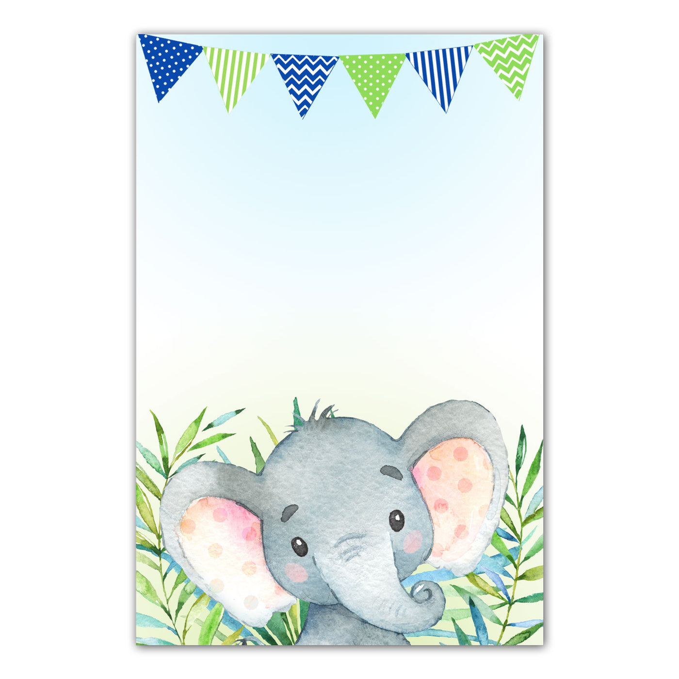 Thank You Cards Watercolor Elephant Birthday Bay Shower Printable Pink The Cat