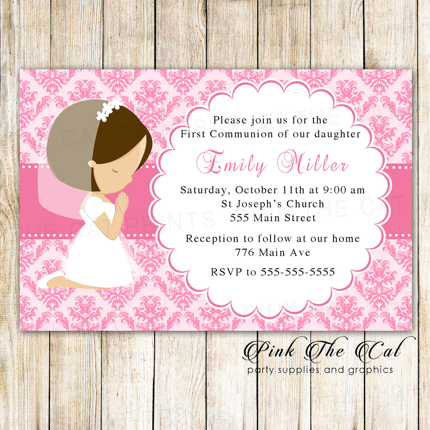 Christening Holy Communion Confirmation Pink Blue Boy Girl Party Supplies
