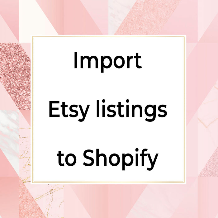 Import etsy listings to shopify