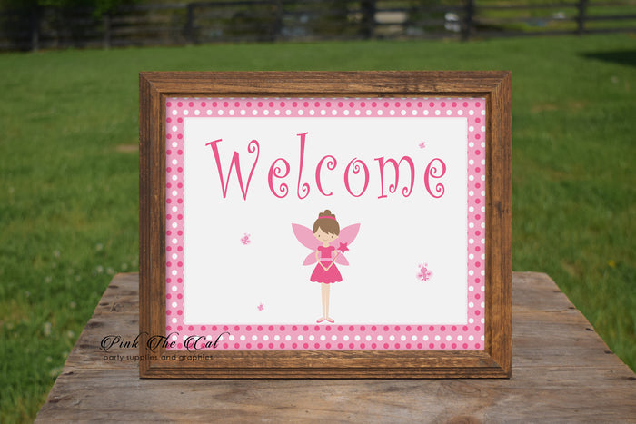 Fairy welcome sign birthday baby shower printable