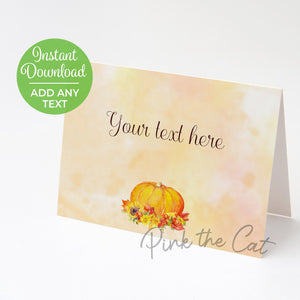 Fall thanksgiving food label place card