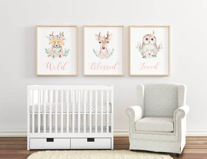 Forest animals wall print decoration