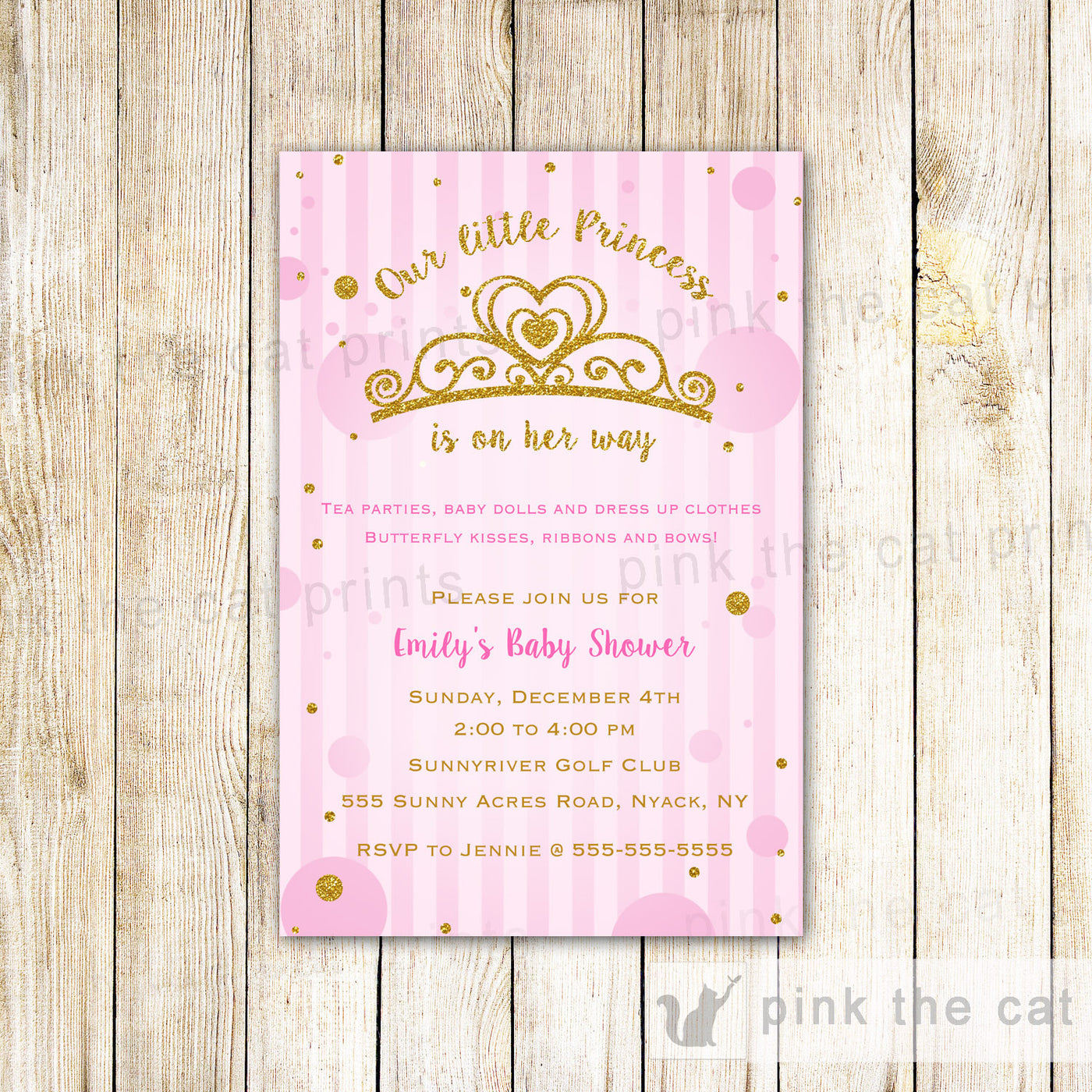 28fd32cee Cupcake Invitation Girl Birthday Party Purple Teal Baby Shower – Pink The  Cat