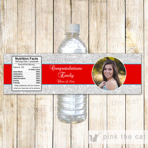 Graduation Bottle Labels With Photo