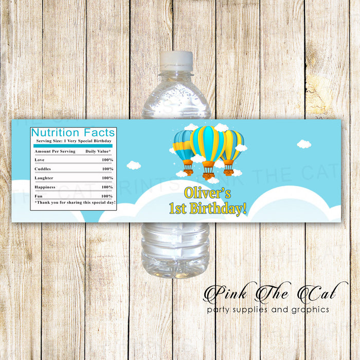 Hot air balloon bottle stickers (set of 30)