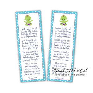 25 Superhero green blue bookmarks baby shower favors