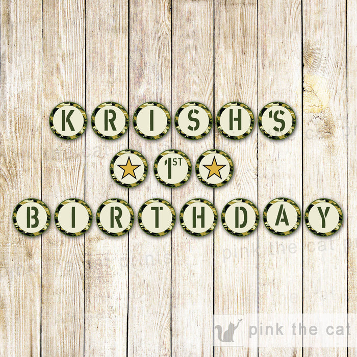 Army Banner Birthday Baby Shower
