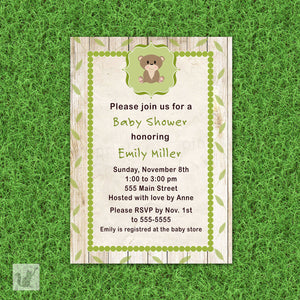 bear forest invitation