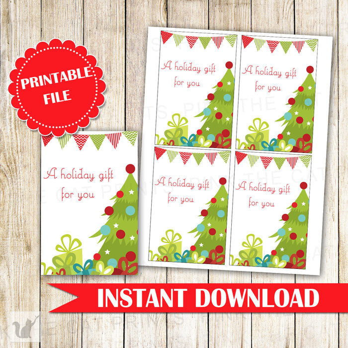 Christmas Gift Favor Label or Tag Christmas Tree Label Kids Birthday Baby Shower Christmas Gift Exchange Christmas Party INSTANT DOWNLOAD