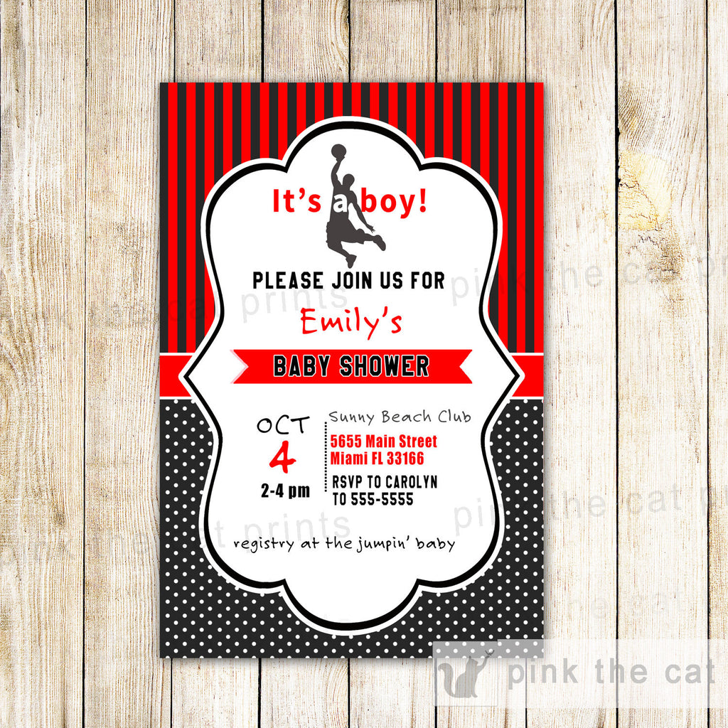 Baby Shower Invitations – Pink The Cat