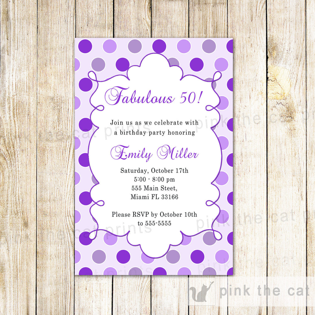 Adults invitations – Pink The Cat