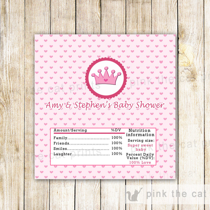 Princess Candy Bar Label Wrapper Birthday Baby Shower