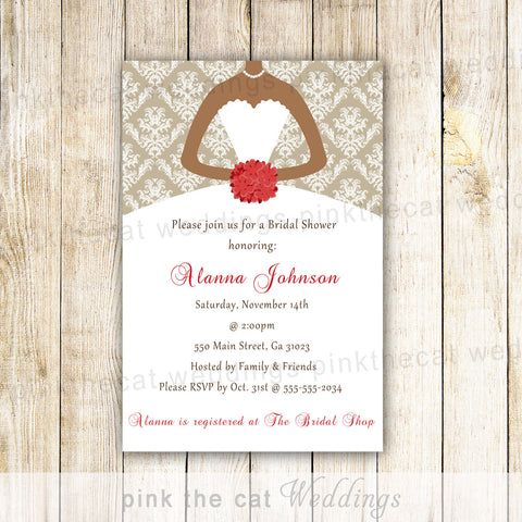 african american dress invitation