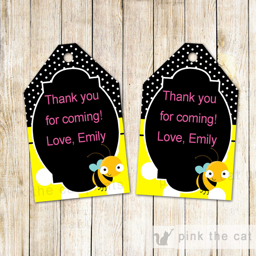 Bee Gift Favor Thank You Tags Baby Shower Birthday