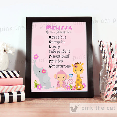 Animals Nursery Bedroom Decoration Baby Girl Shower Birthday Gift