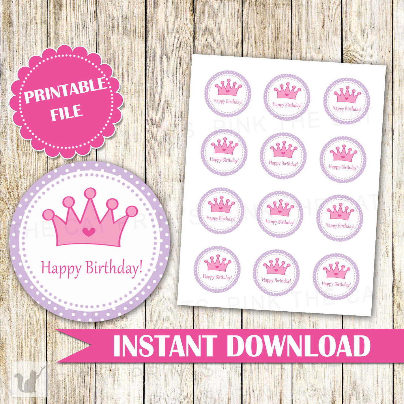picture about Happy Birthday Tag Printable named Princess Labels Joyful Birthday Labels Princess Present Prefer Tags Princess Cake Pop Labels Crimson Crimson Princess Stickers Quick Down load