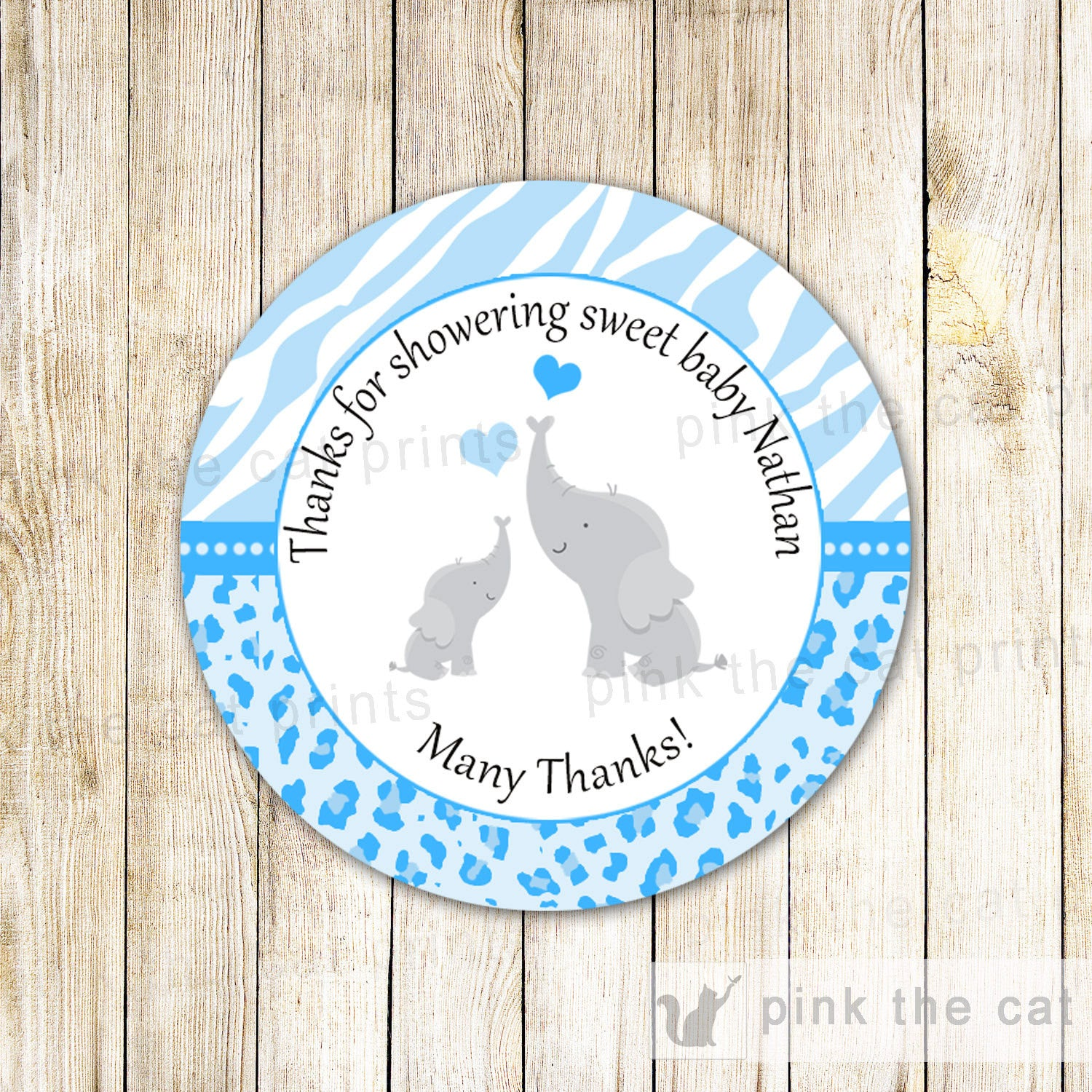 Elephant Label Little Peanut Favor Tag Elephant Baby Shower Label ...