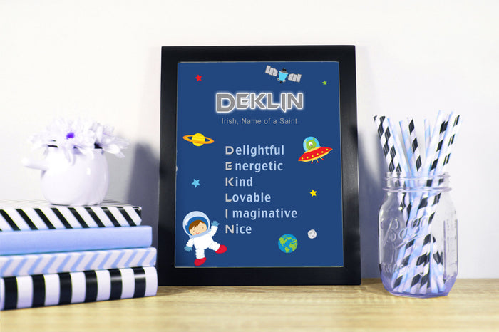 Astronaut Space Nursery Bedroom Decoration Baby Shower Birthday Gift