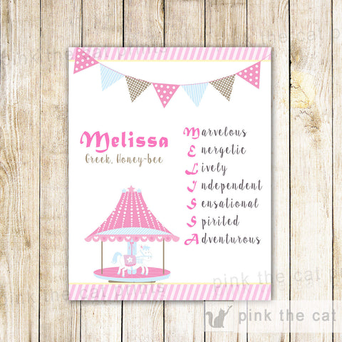 Carousel Nursery Bedroom Decoration Girl Baby Shower Birthday Gift