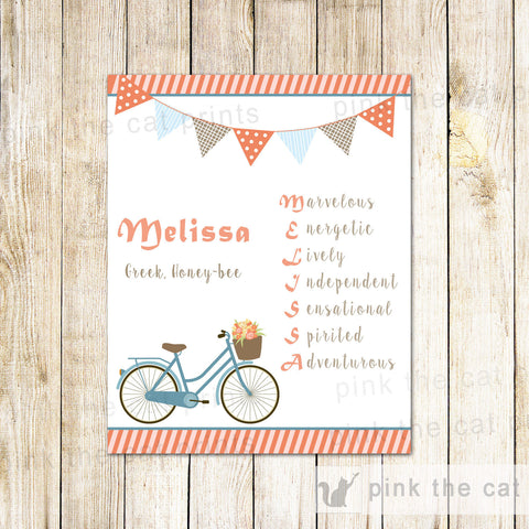 Bicycle Bedroom Decoration Teen Birthday Gift