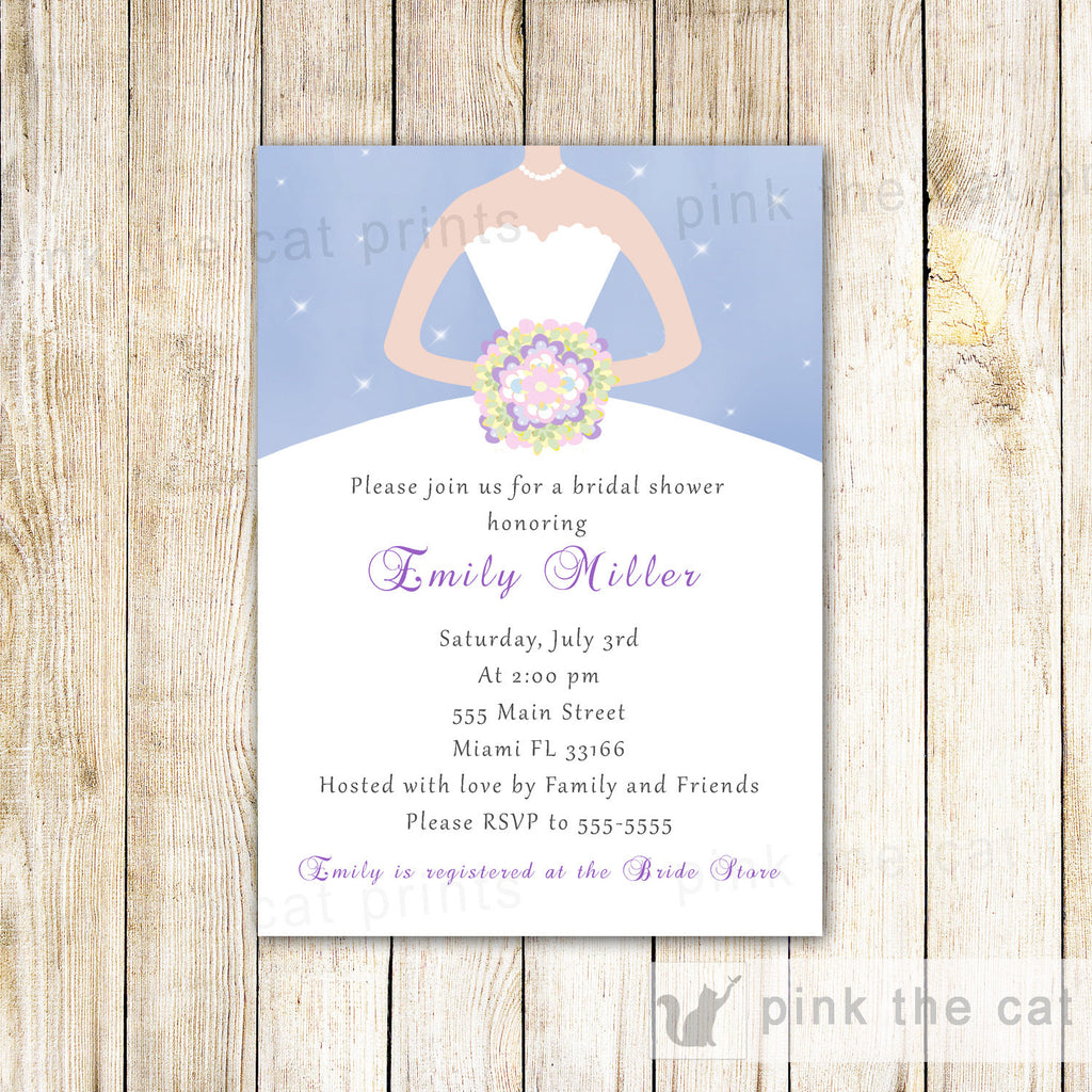 summer dress sparkles invitation