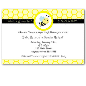 gener reveal bee invitation
