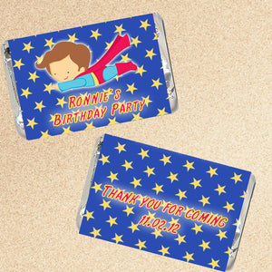 Superhero Candy Wrapper Label Birthday Baby Shower