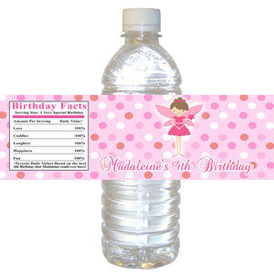 Fairy Pixie Bottle Label Birthday Baby Shower