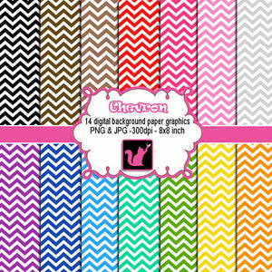 Chevron Clipart  Zig zag Various Colors Digital Background Paper Clip Art
