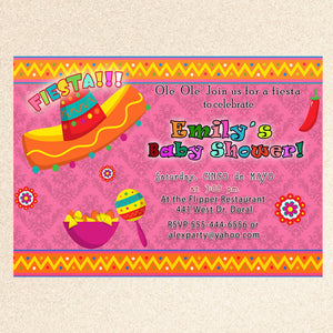 mexican fiesta invitation baby shower