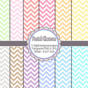 Chevron Clipart Pastel Colors Zig Zag Digital Background Papers