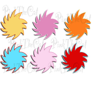 Cartoon Tree Clipart Storybook Frames Clip Art Scrapbook Blue Red Orange