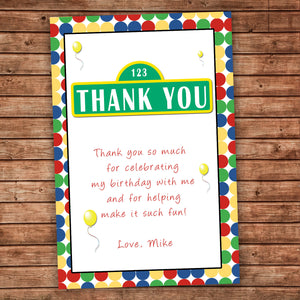 Polka Dots Thank You Card Birthday Baby Shower