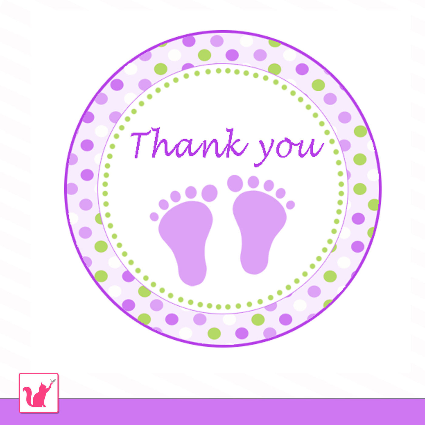 graphic relating to Baby Shower Gift Tag Printable titled Footprints Pink Inexperienced Little one Shower Prefer Label Tag Printable