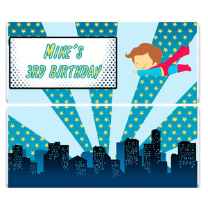 Superhero Boy Birthday Candy Bar Wrapper Label