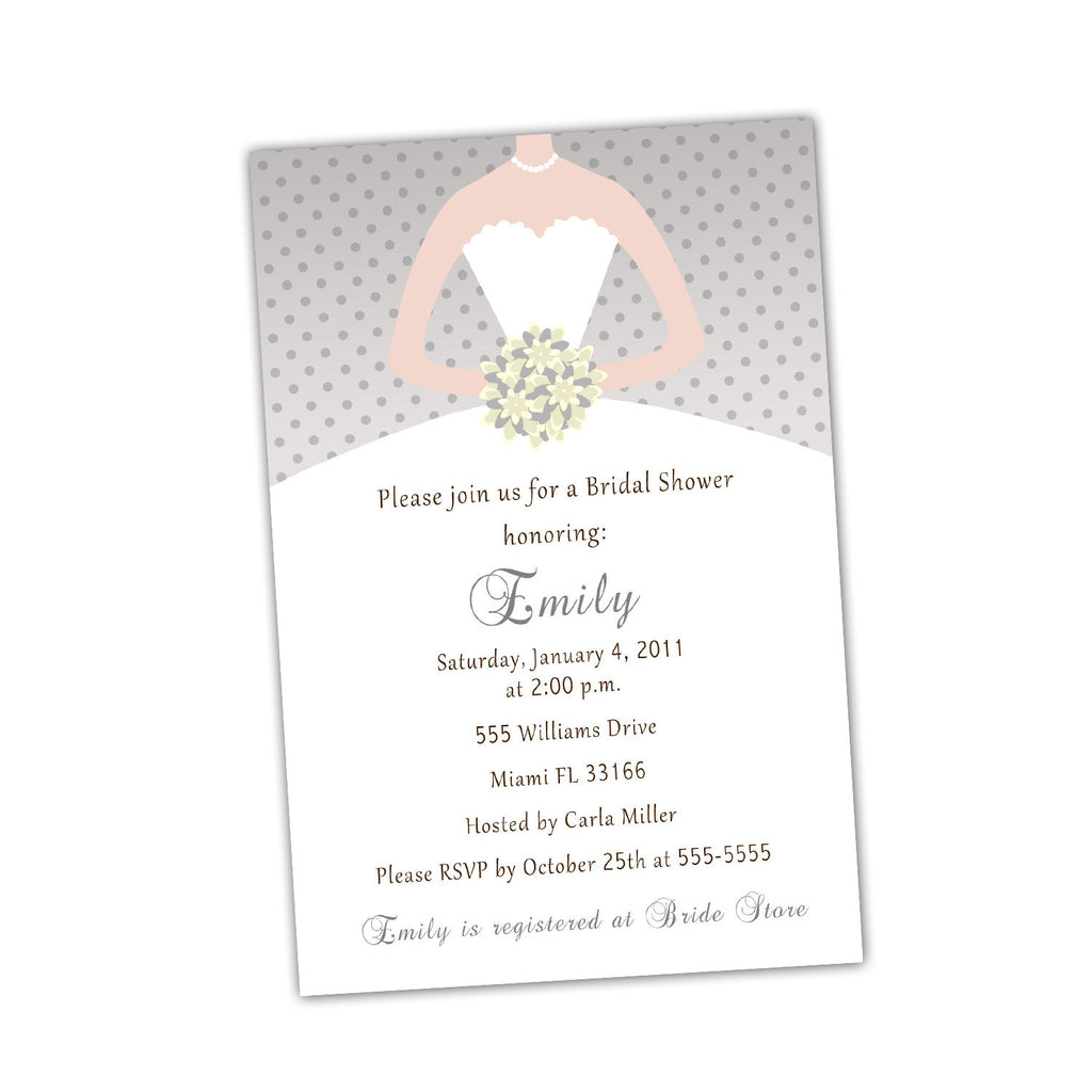dress invitation grey ivory