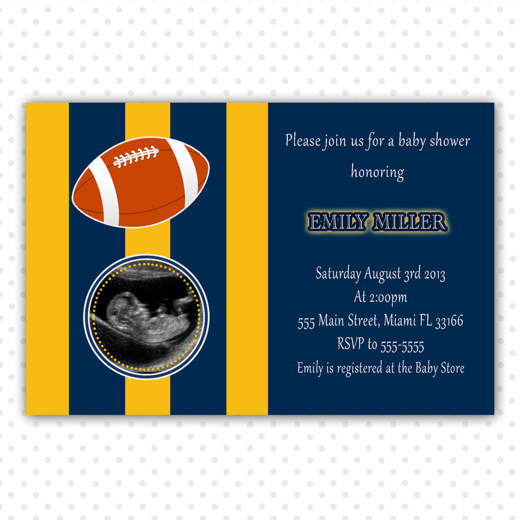 american football invitation
