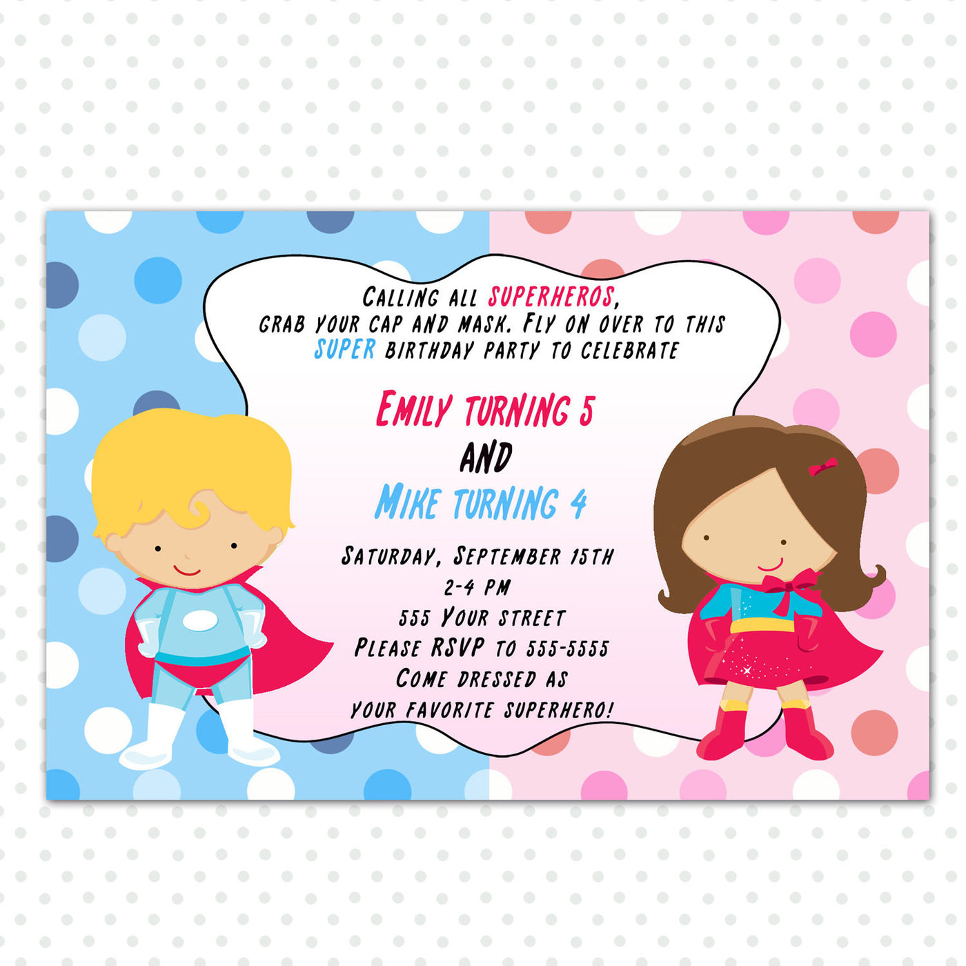 picture relating to Printable Superhero Invitations identify Superhero Invitation Young children Birthday Occasion Lady Boy