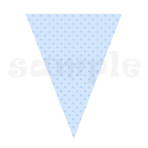 Birthday Flag Banner Blue Polka Dots