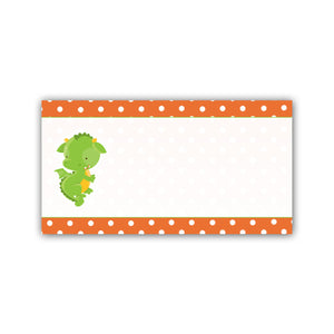 Orange Dragon Address Label Birthday Baby Shower Printable