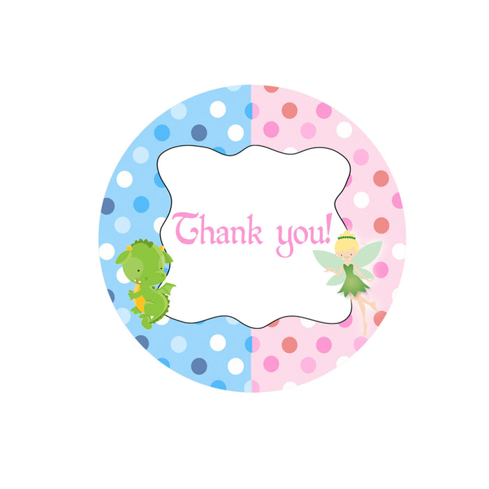 Dragon Fairy Kids Birthday Favor Label Tag Printable