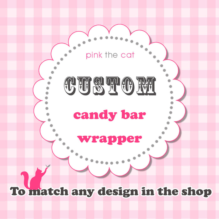 Matching Candy Bar Label