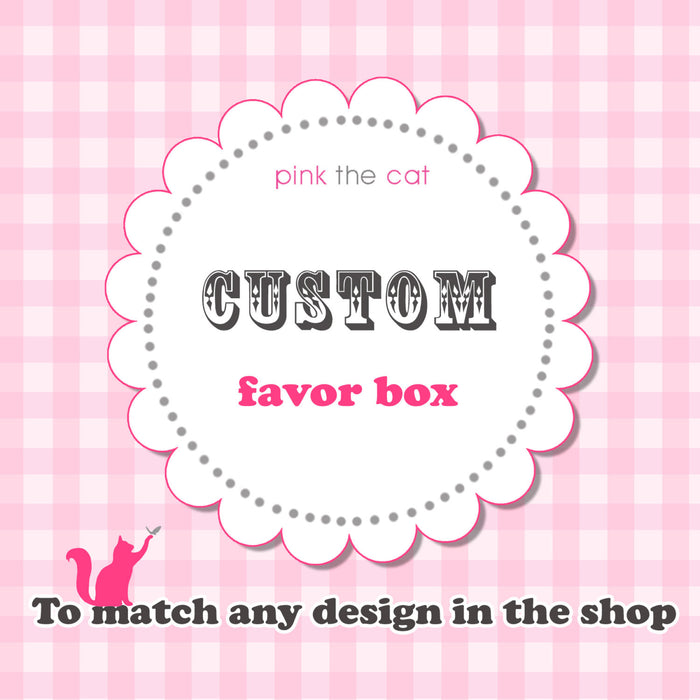 Matching Favor Box