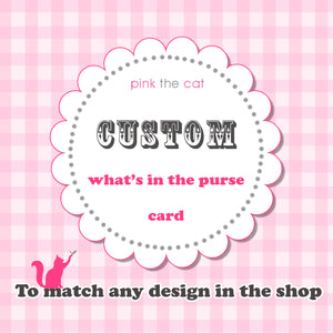 Matching Whats In The Purse Cards