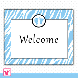 Add Matching Welcome Sign